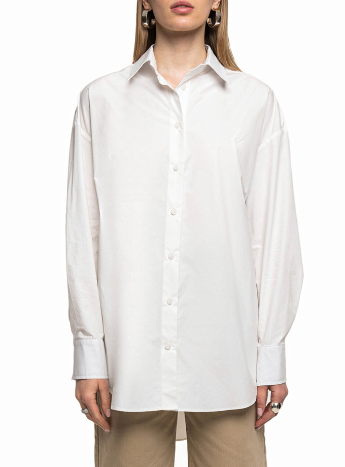Хлопковая рубашка WNDM_sp21-shr-white-os, фото 1 - в интернет магазине KAPSULA