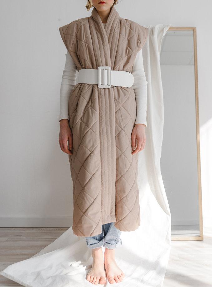 Стьобане пальто-трансформер SHP_SHP-coat-beige, фото 1 - в интернет магазине KAPSULA