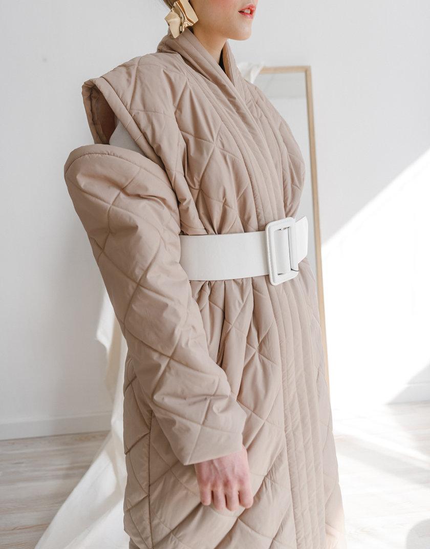 Стеганое пальто-трансформер SHP_SHP-coat-beige, фото 1 - в интернет магазине KAPSULA