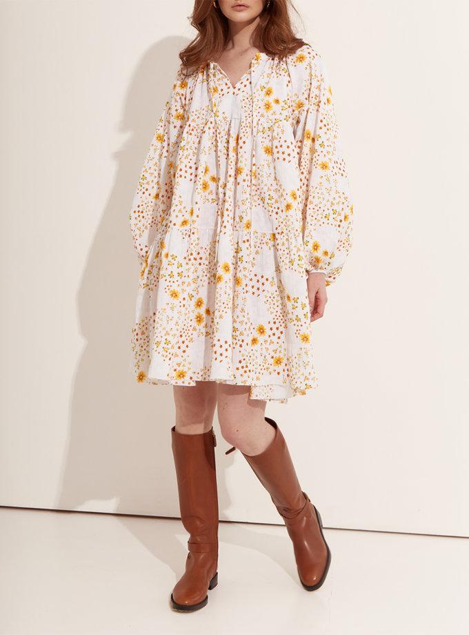 Ярусное платье мини из хлопка BETH_BD_SS21_7, фото 1 - в интернет магазине KAPSULA