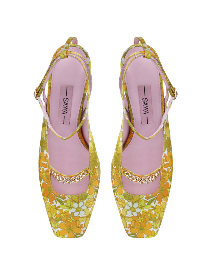 Туфли-слингбэки в принт SAYYA_SS1162-1, фото 1 - в интернет магазине KAPSULA