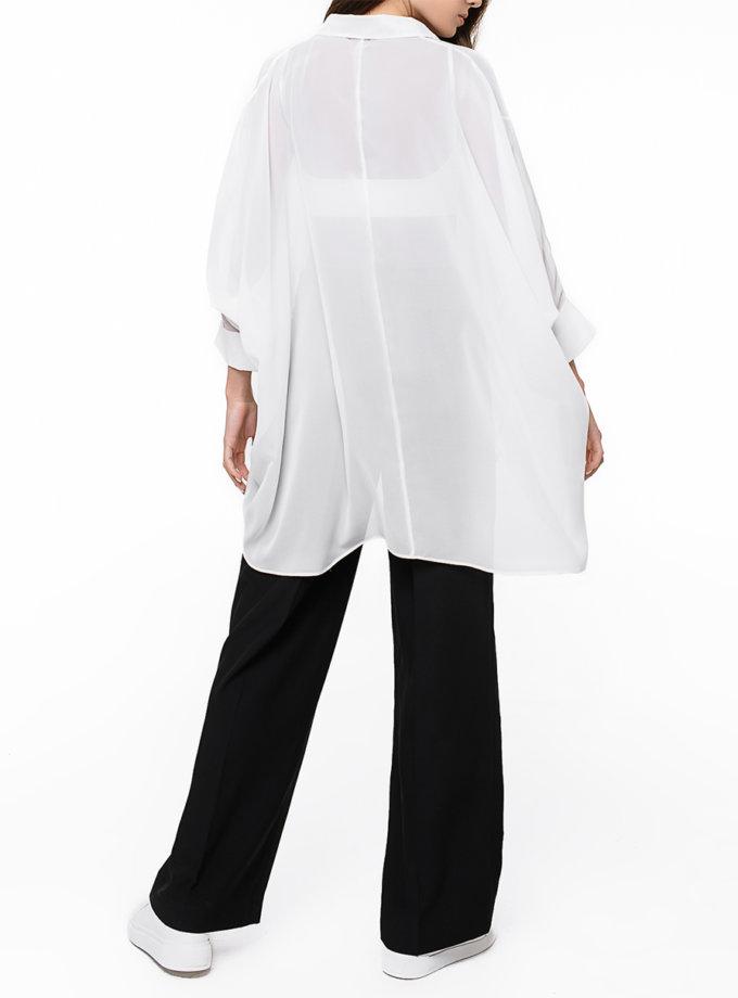Шифоновая рубашка oversize MGN_2105WH, фото 1 - в интернет магазине KAPSULA