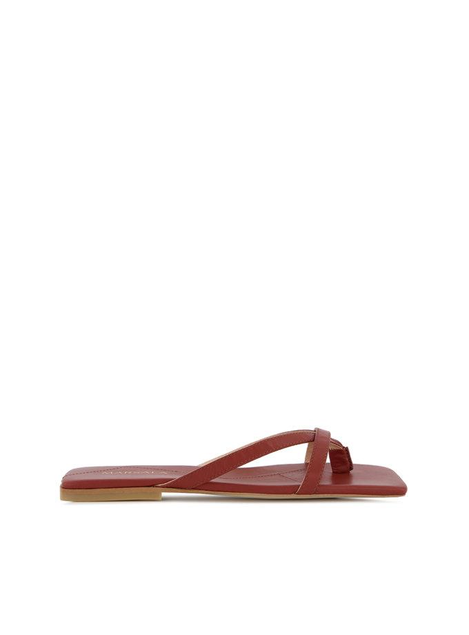 Кожаные слайдеры Ashley MRSL_170111, фото 1 - в интернет магазине KAPSULA
