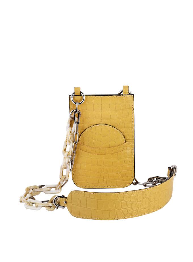 Кожаная сумка-чехол на цепочке SAYYA_SS1164-1, фото 1 - в интернет магазине KAPSULA