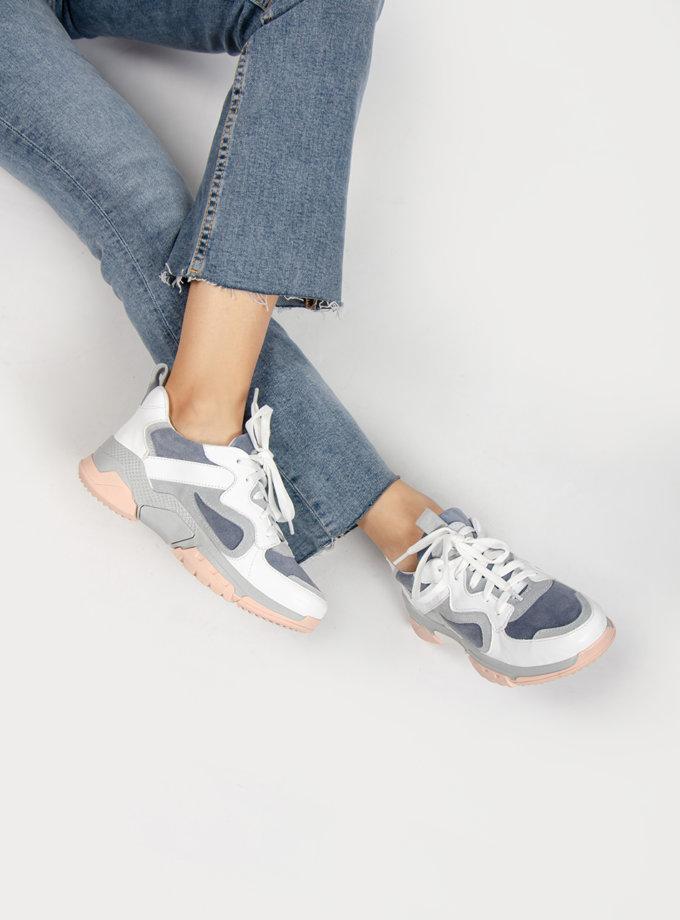 Кожаные кроссовки CRS_20-01030, фото 1 - в интернет магазине KAPSULA