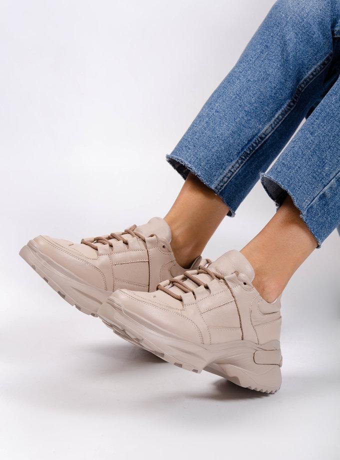 Кожаные кроссовки CRS_20-01033, фото 1 - в интернет магазине KAPSULA