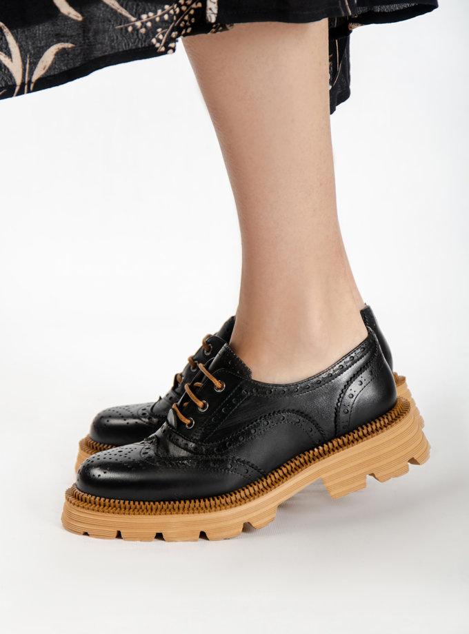 Кожаные туфли CRS_21-00375, фото 1 - в интернет магазине KAPSULA