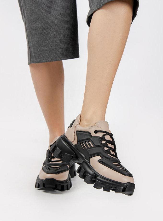 Кожаные кроссовки CRS_21-00487, фото 1 - в интернет магазине KAPSULA