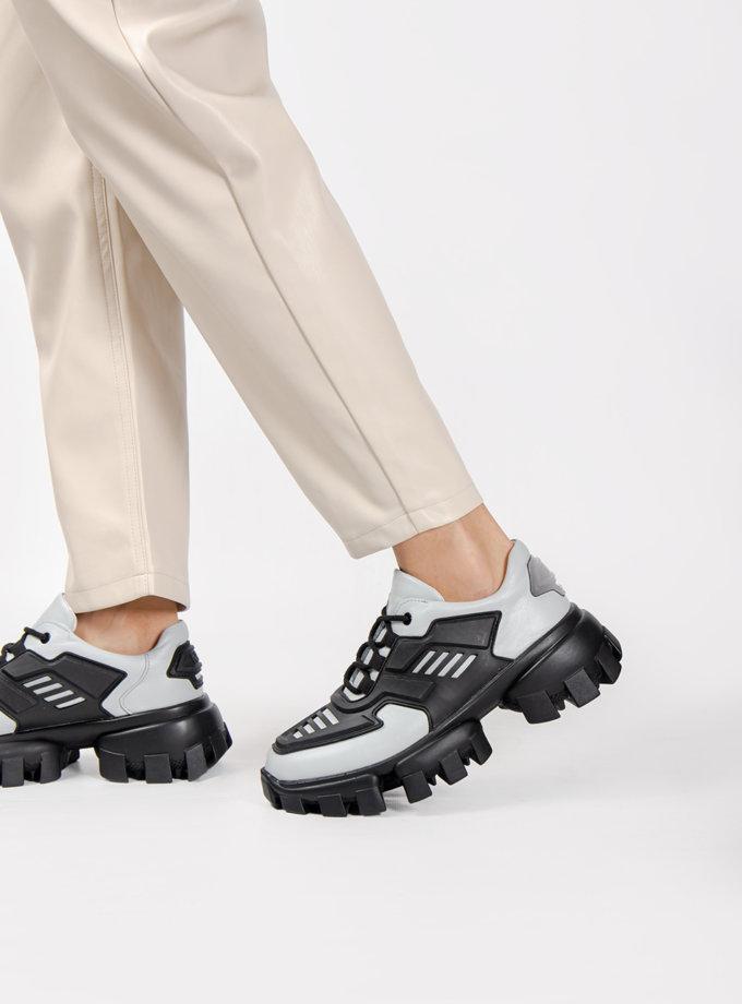 Кожаные кроссовки CRS_21-00489, фото 1 - в интернет магазине KAPSULA