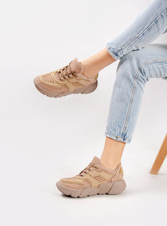 Замшевые кроссовки CRS_21-00490, фото 1 - в интернет магазине KAPSULA