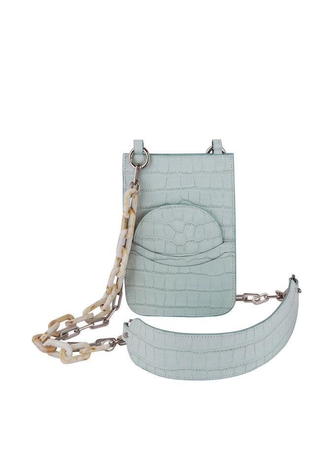 Кожаная сумка-чехол на цепочке SAYYA_SS1164-2, фото 1 - в интернет магазине KAPSULA