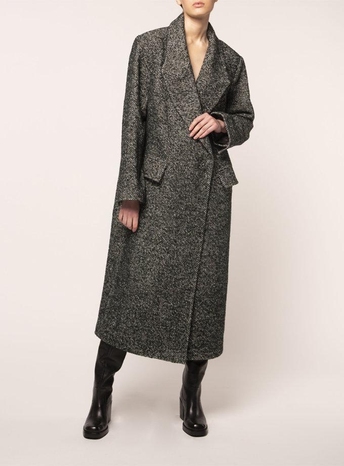 Объемное пальто из шерсти BEAVR_BA_FW21_91, фото 1 - в интернет магазине KAPSULA