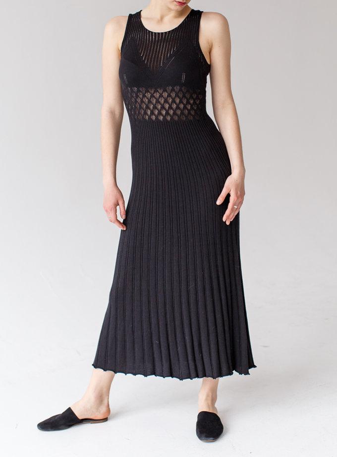 Ажурное платье из хлопка NBL_2103-DRESSLACEBLACK, фото 1 - в интернет магазине KAPSULA