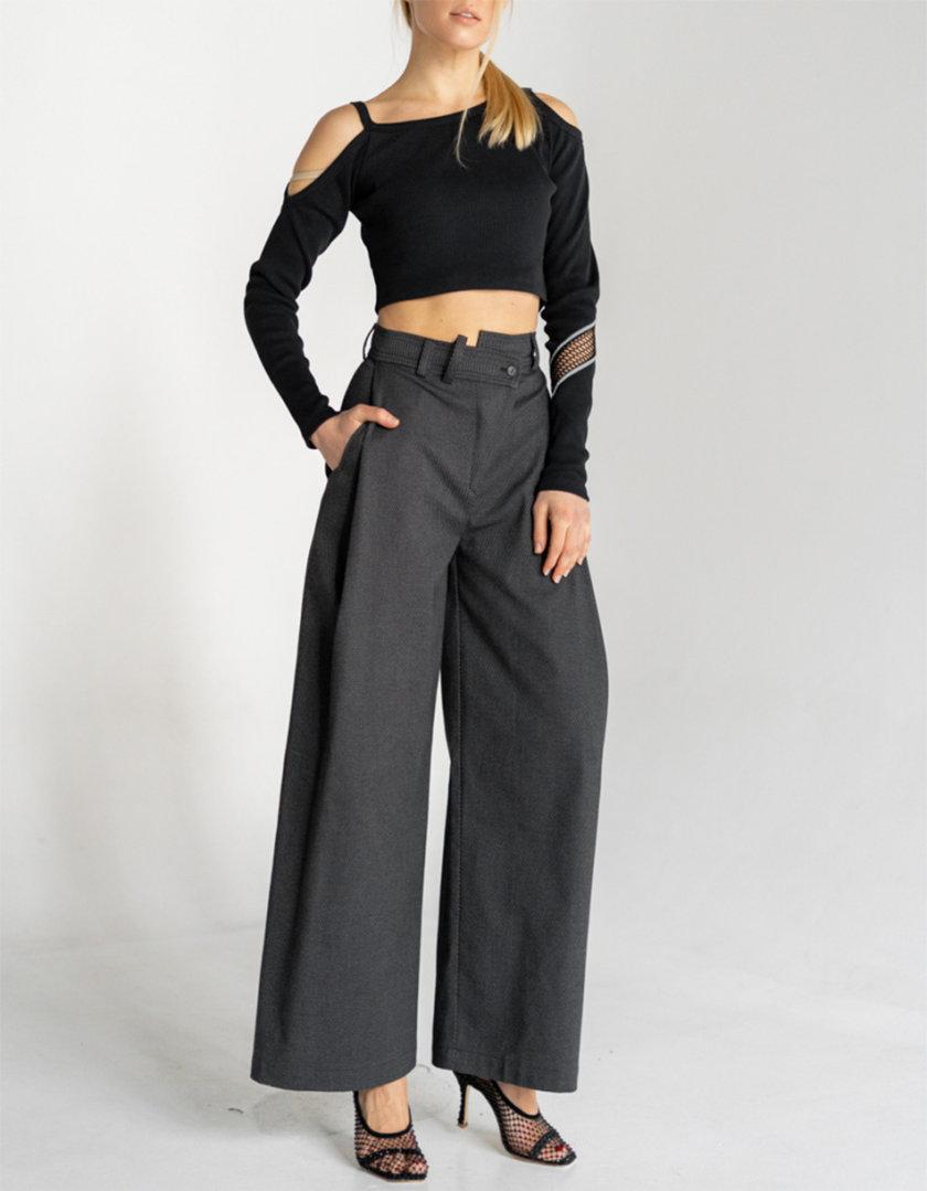 Хлопковые брюки палаццо SE_SE20_Pnt_Plz_G, фото 1 - в интернет магазине KAPSULA