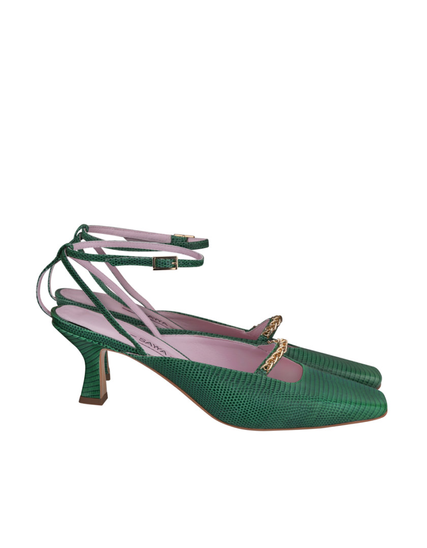 Кожаные туфли-слингбэки SAYYA_SS1161, фото 1 - в интернет магазине KAPSULA