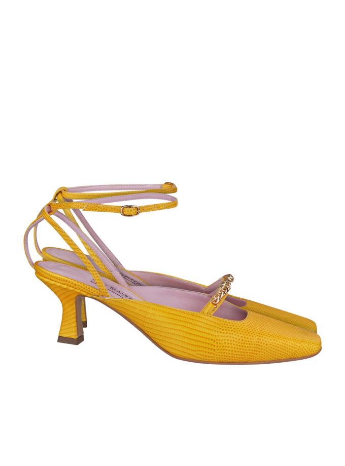 Кожаные туфли-слингбэки SAYYA_SS1161-1, фото 1 - в интернет магазине KAPSULA