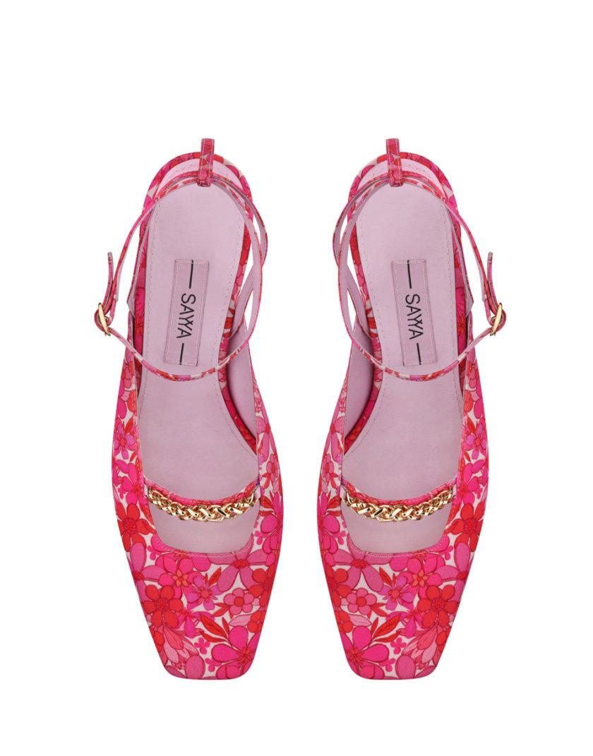 Туфли-слингбэки в принт SAYYA_SS1162, фото 1 - в интернет магазине KAPSULA
