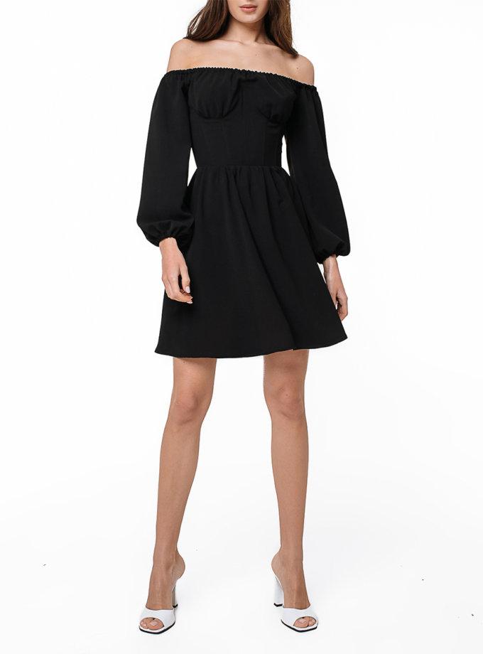Коктейльное платье мини с корсетом MGN_1728BK, фото 1 - в интернет магазине KAPSULA
