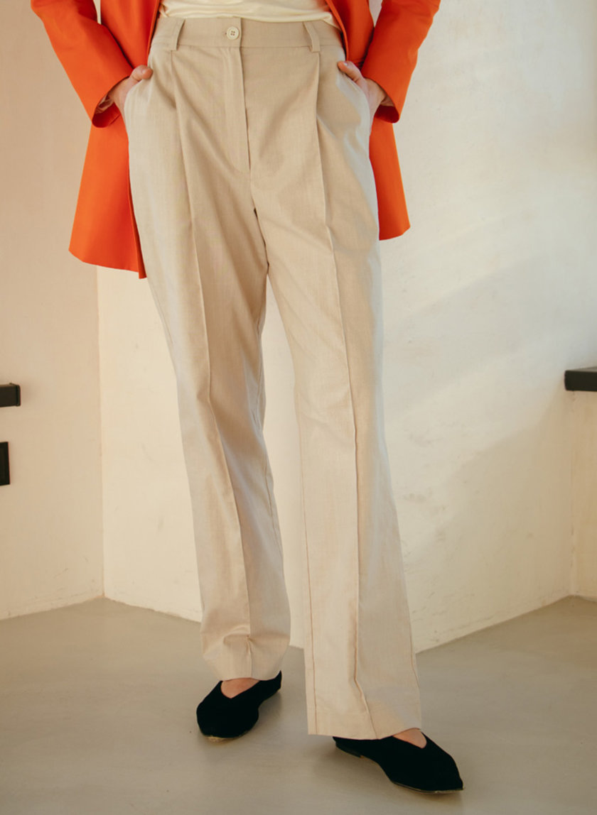 Прямые брюки из хлопка NM_463, фото 1 - в интернет магазине KAPSULA