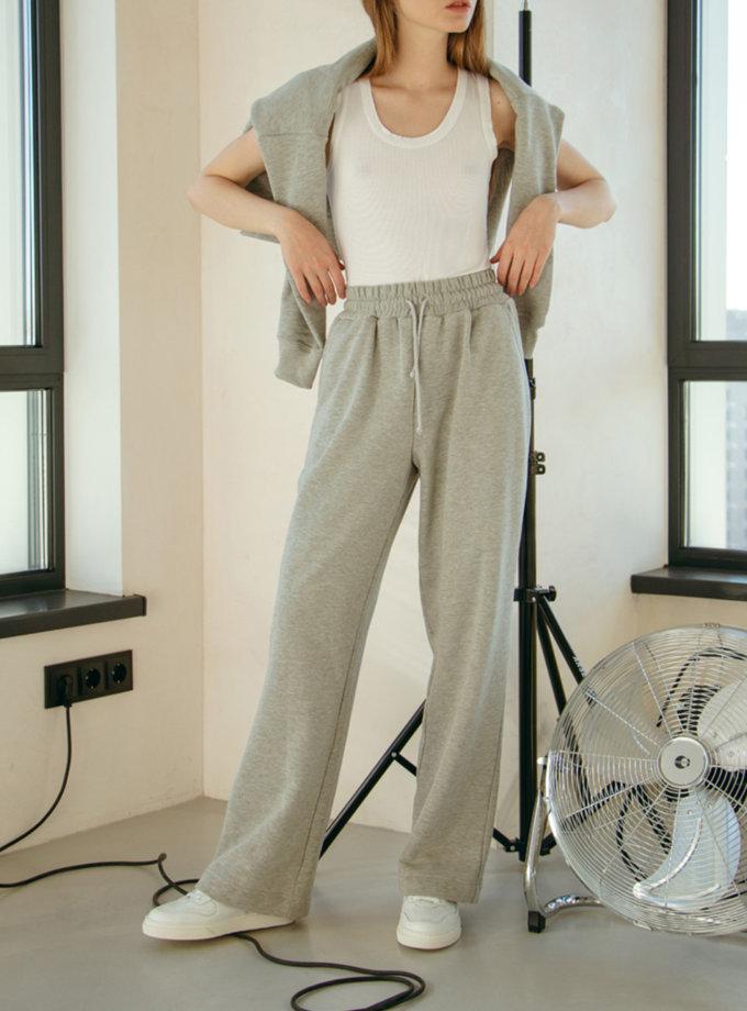 Хлопковые брюки на резинке NM_477, фото 1 - в интернет магазине KAPSULA