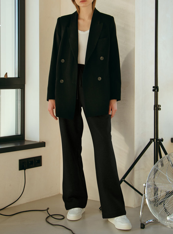 Хлопковые брюки на резинке NM_479, фото 1 - в интернет магазине KAPSULA