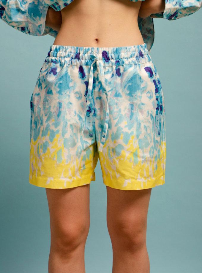 Хлопковый комплект из рубашки и шорт NM_493, фото 1 - в интернет магазине KAPSULA