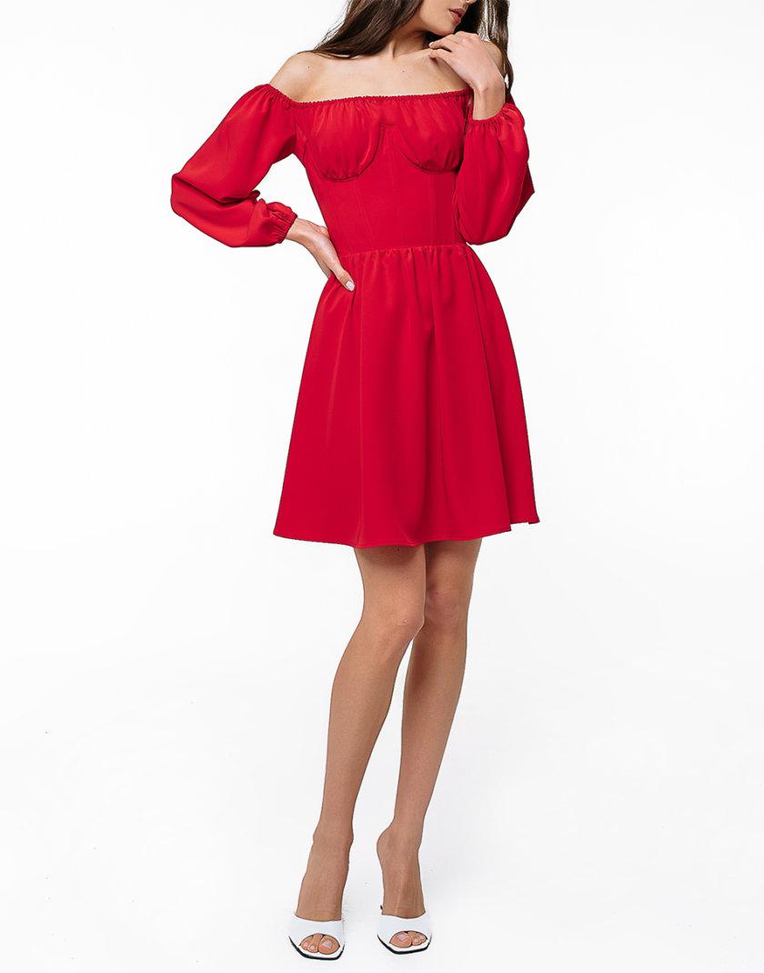 Коктейльное платье мини с корсетом MGN_1728RD, фото 1 - в интернет магазине KAPSULA