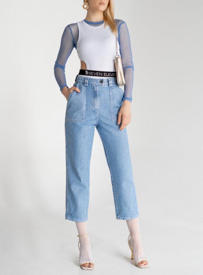 Укороченные джинсы из хлопка SE_SE20_Pn_Eurosi_Bl, фото 1 - в интернет магазине KAPSULA