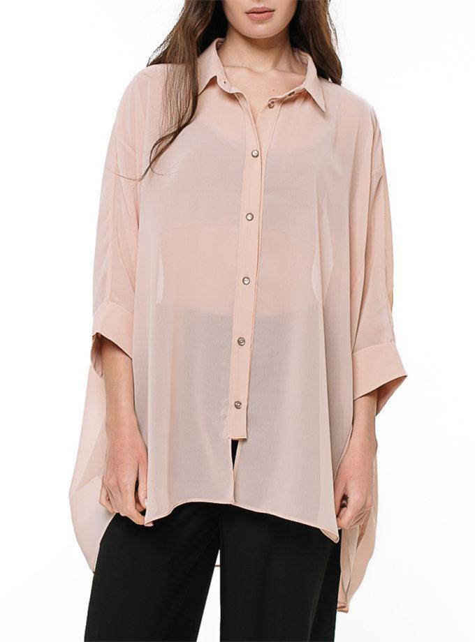 Шифоновая рубашка oversize MGN_2105SD, фото 1 - в интернет магазине KAPSULA