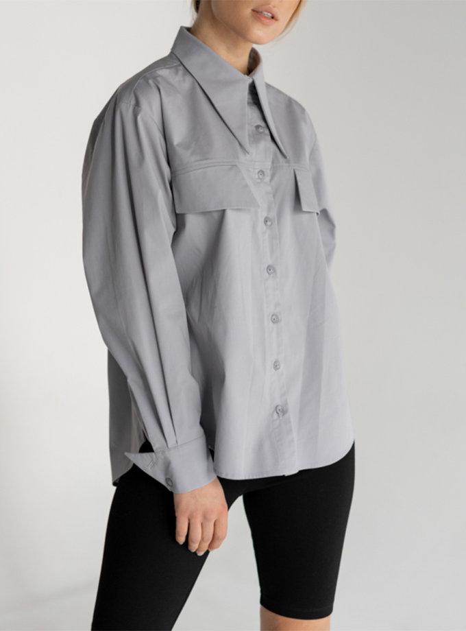 Рубашка из хлопка SE_SE20_Sh_G, фото 1 - в интернет магазине KAPSULA