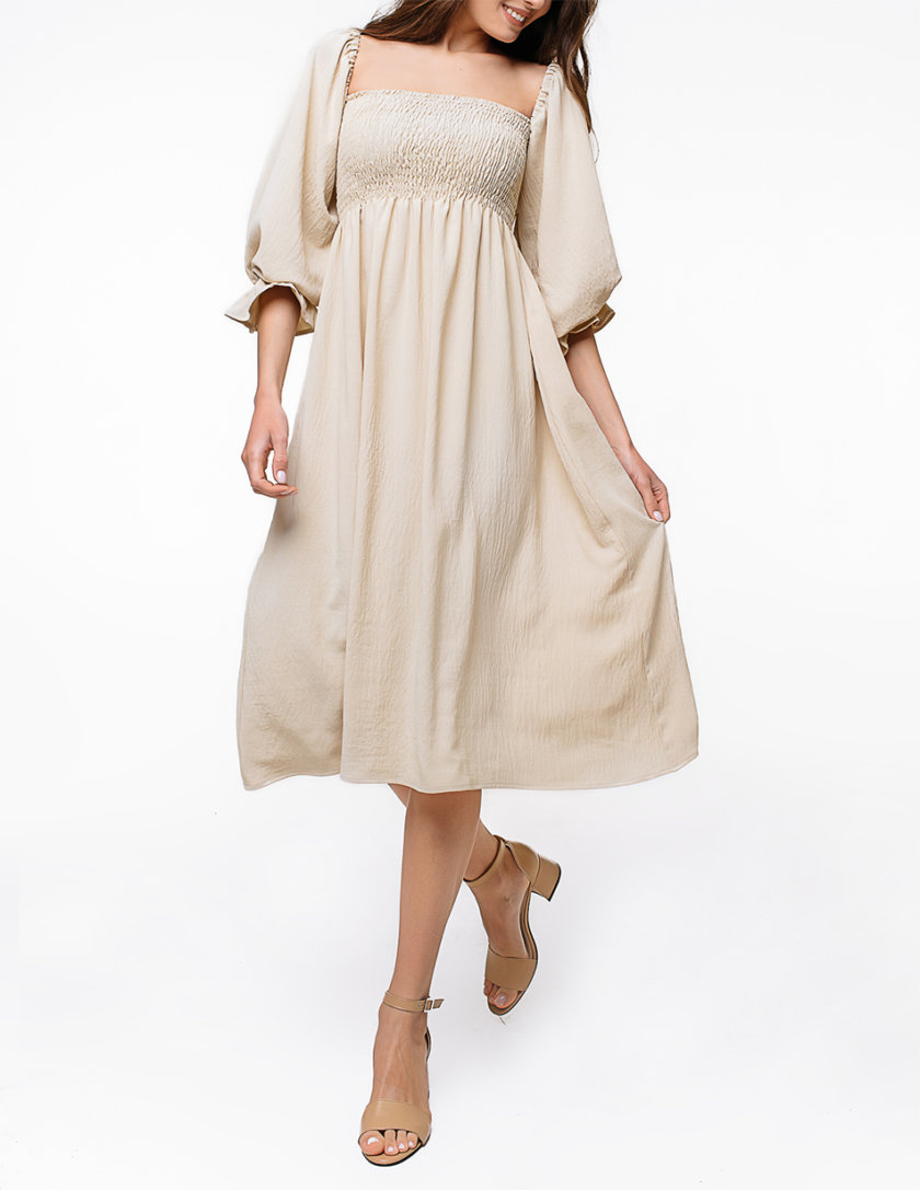Хлопковое платье миди с объемными рукавами MGN_1723SD, фото 1 - в интернет магазине KAPSULA