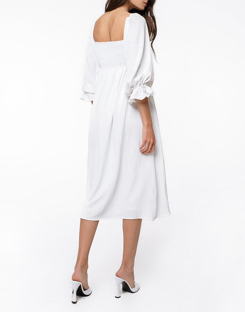 Хлопковое платье миди с объемными рукавами MGN_1723WH, фото 1 - в интернет магазине KAPSULA