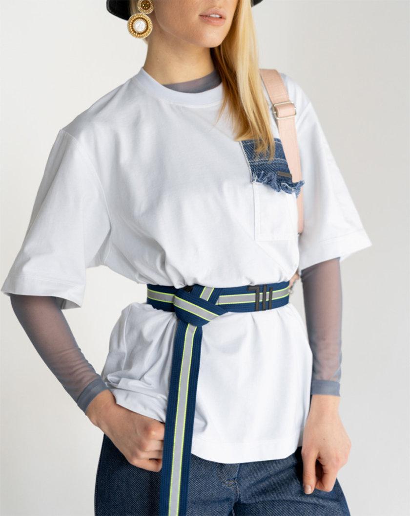 Пояс-тесьма one size SE_SE16_Belt_40_Bl_Rflctv, фото 1 - в интернет магазине KAPSULA