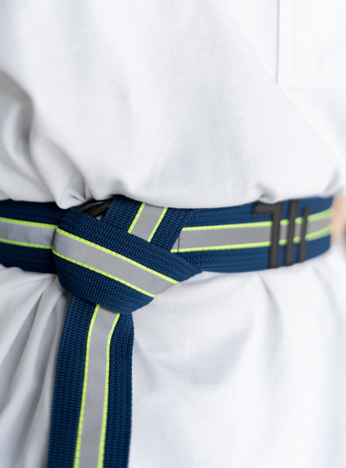 Пояс-тісьма one size SE_SE16_Belt_40_Bl_Rflctv, фото 1 - в интернет магазине KAPSULA