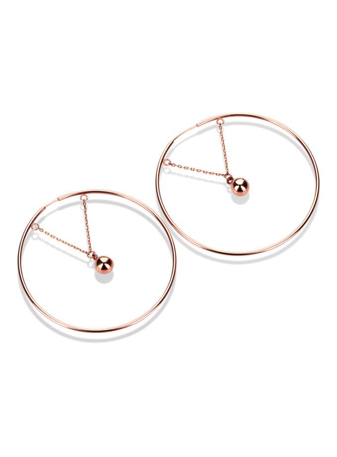 Серьги из красного золота DUD_700435-С, фото 1 - в интернет магазине KAPSULA