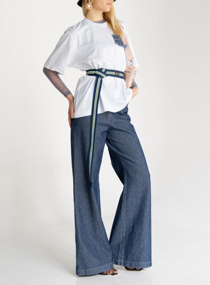 Хлопковые джинсы-клёш SE_SE20_Jns_Nace_Bl, фото 1 - в интернет магазине KAPSULA