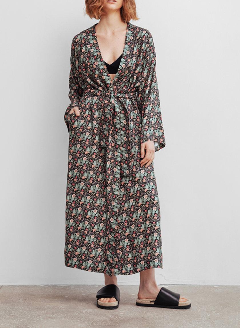 Платье макси в цветы BLCGR_BLCN_799, фото 1 - в интернет магазине KAPSULA