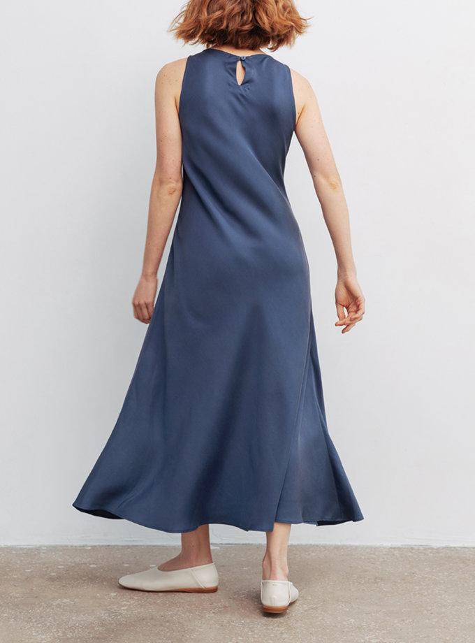 Платье макси из тенсела BLCGR_BLCN_800, фото 1 - в интернет магазине KAPSULA