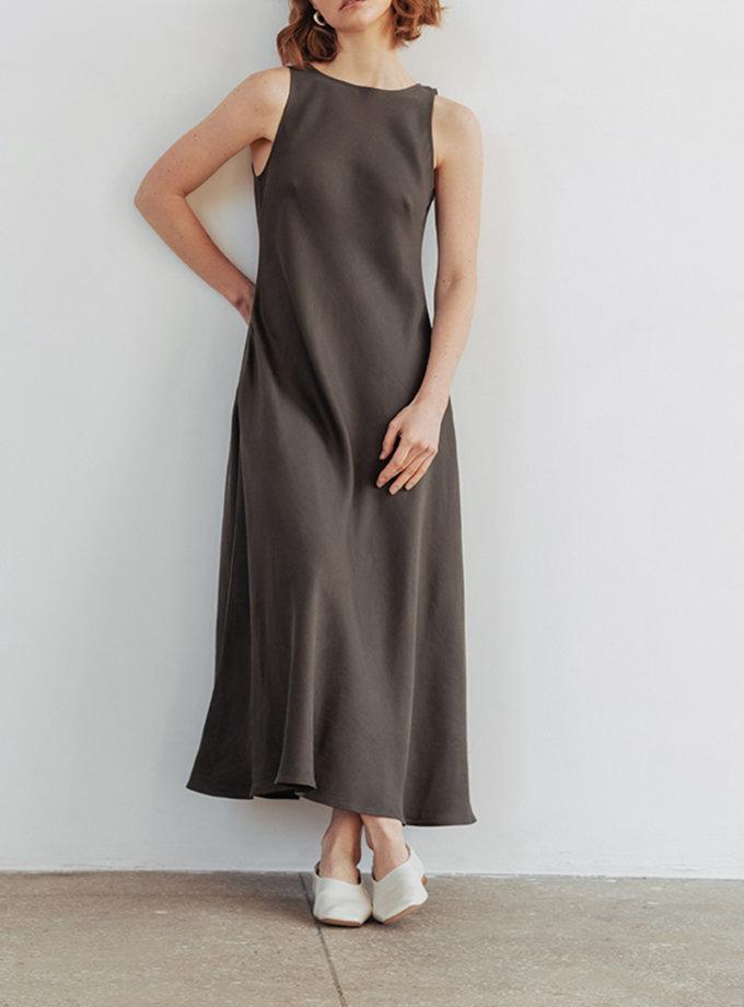 Платье макси из тенсела BLCGR_BLCN_801, фото 1 - в интернет магазине KAPSULA