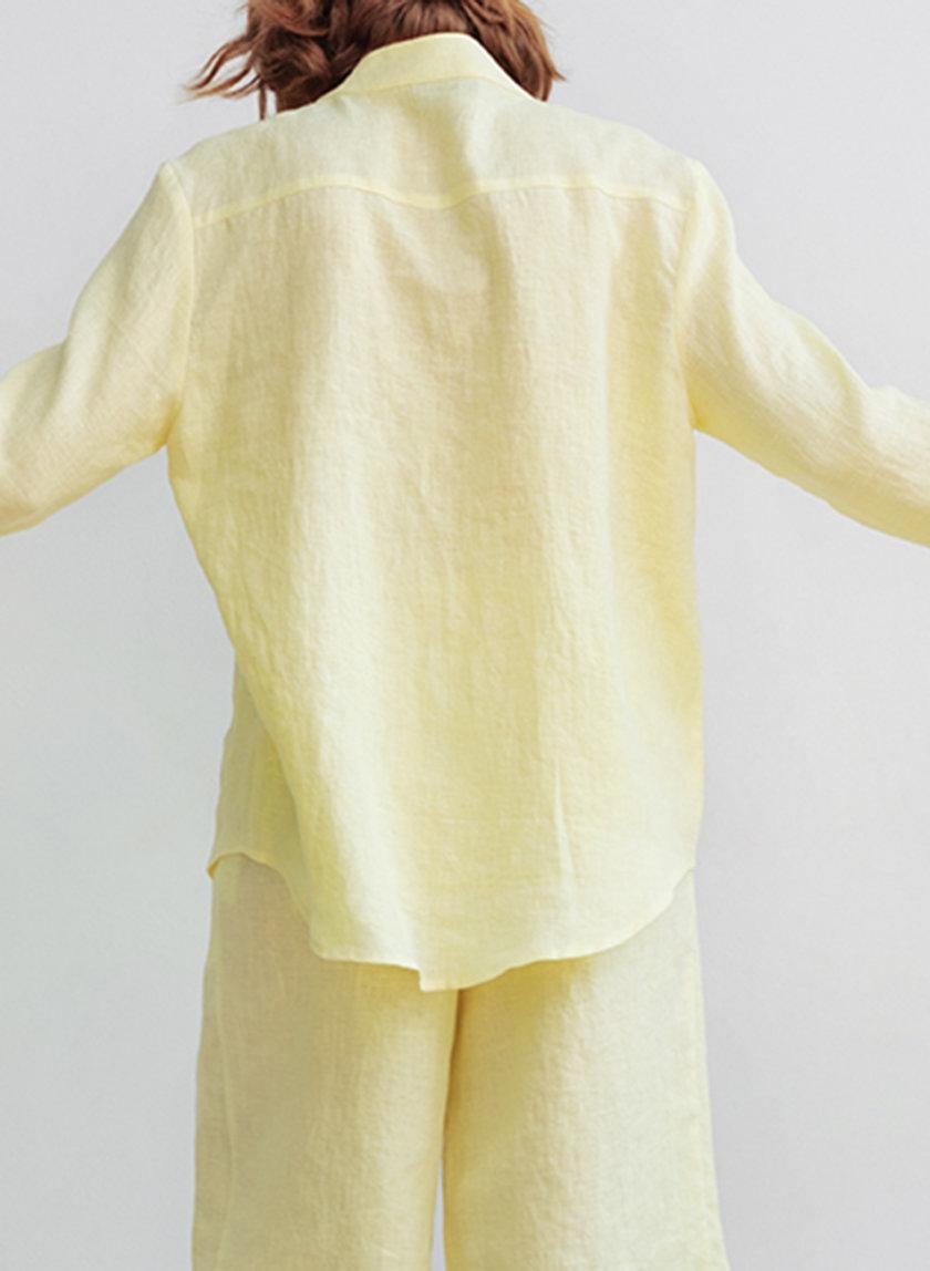 Льняная рубашка oversize BLCGR_BLCN_802, фото 1 - в интернет магазине KAPSULA