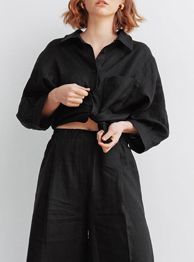 Укороченная рубашка из льна BLCGR_BLCN_803, фото 1 - в интернет магазине KAPSULA