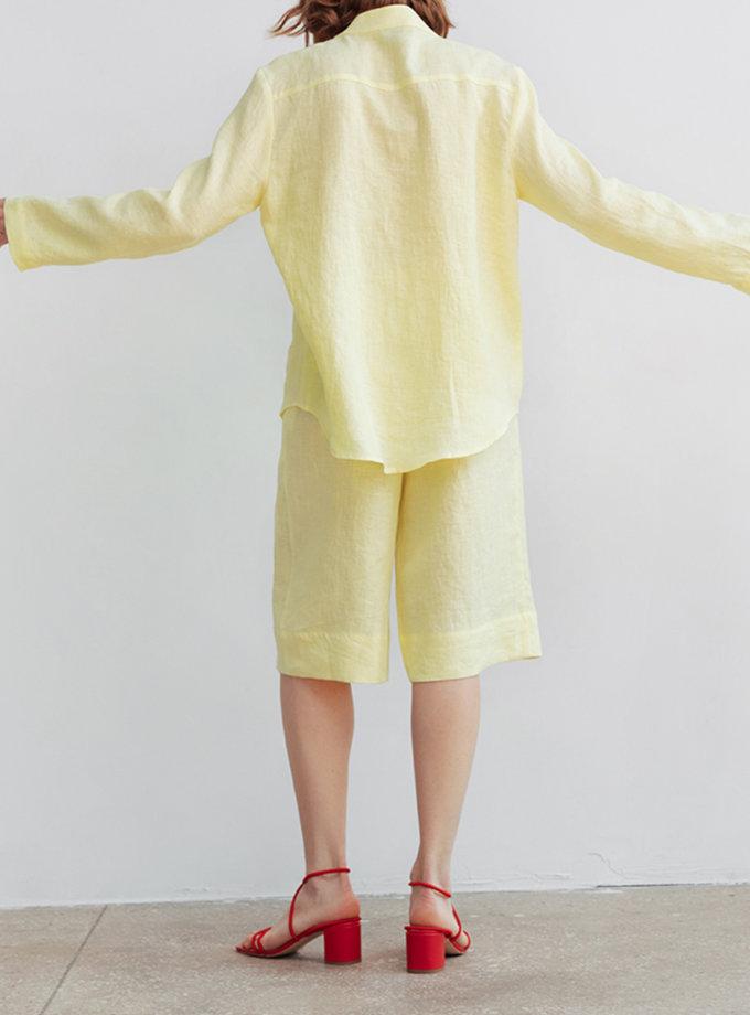 Льняные шорты-бермуды BLCGR_BLCN_804, фото 1 - в интернет магазине KAPSULA