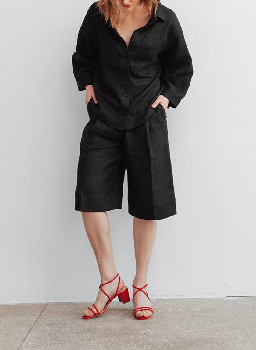 Льняные шорты-бермуды BLCGR_BLCN_805, фото 1 - в интернет магазине KAPSULA