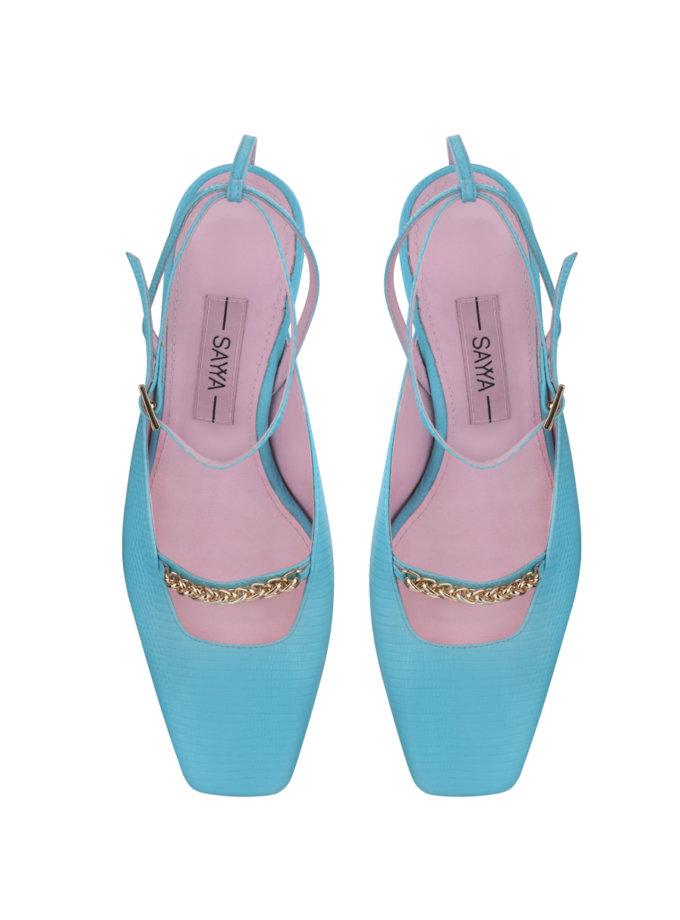 Кожаные туфли-слингбэки SAYYA_SS1161-2, фото 1 - в интернет магазине KAPSULA