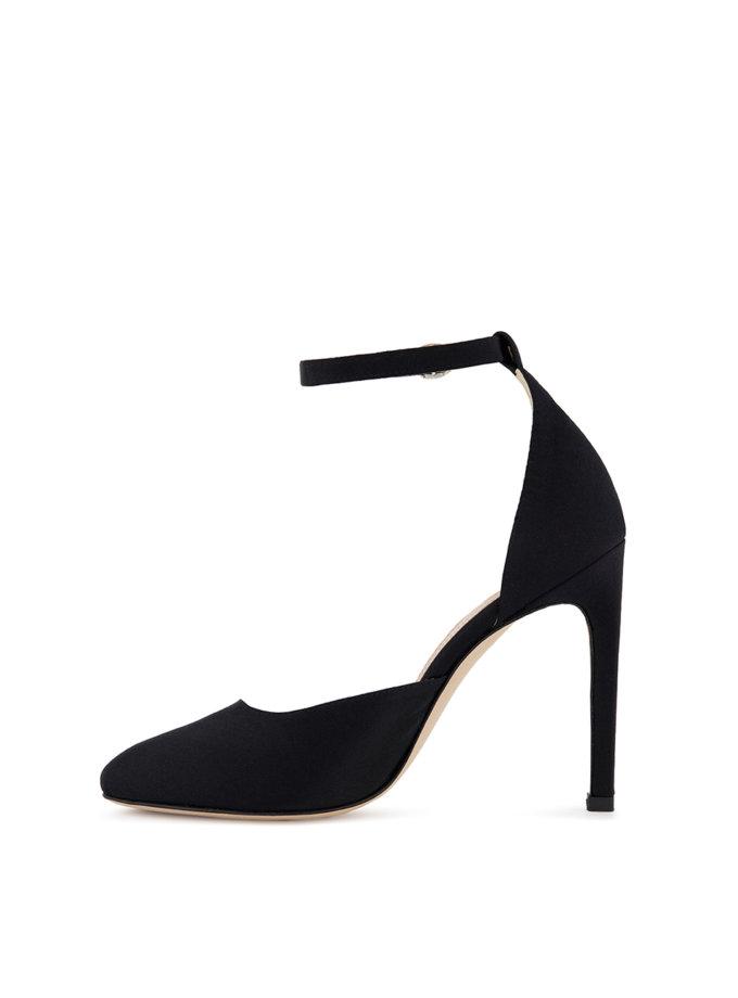 Сатиновые туфли Mary Jane MRSL_993627, фото 1 - в интернет магазине KAPSULA