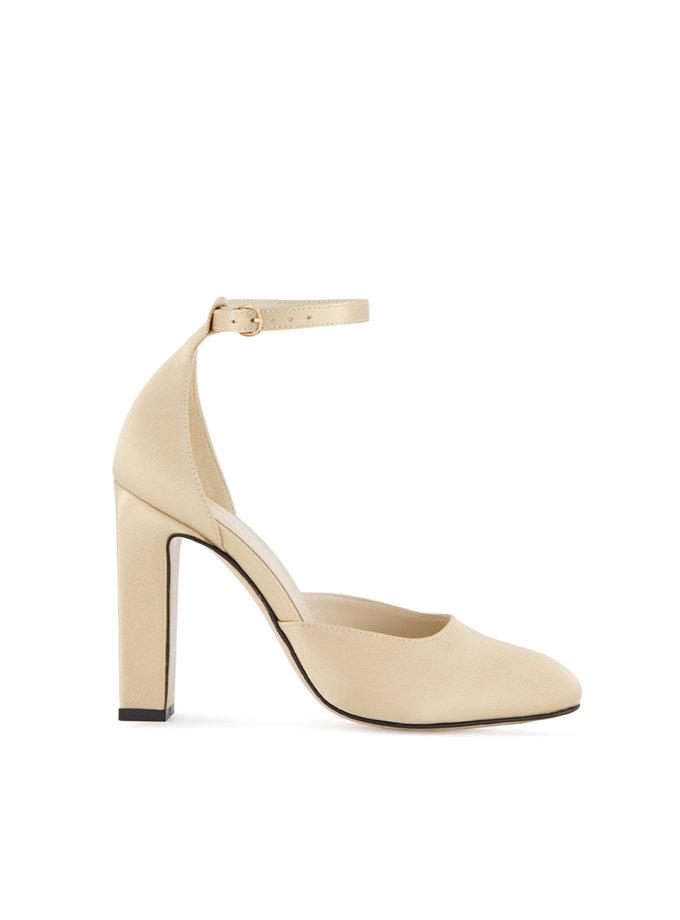 Сатиновые туфли Mary Jane MRSL_993633, фото 1 - в интернет магазине KAPSULA