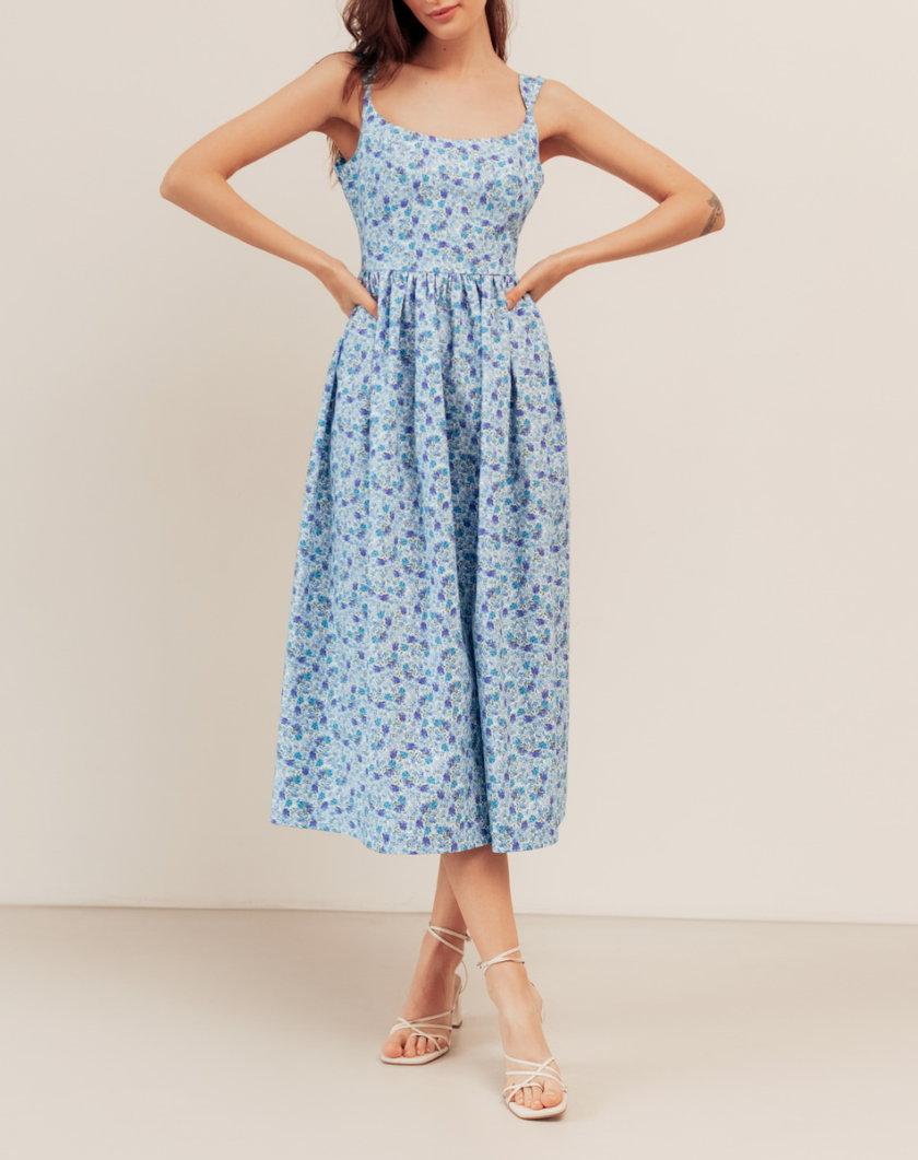 Хлопковое платье с открытой спиной BETH_BD_SS21_6, фото 1 - в интернет магазине KAPSULA