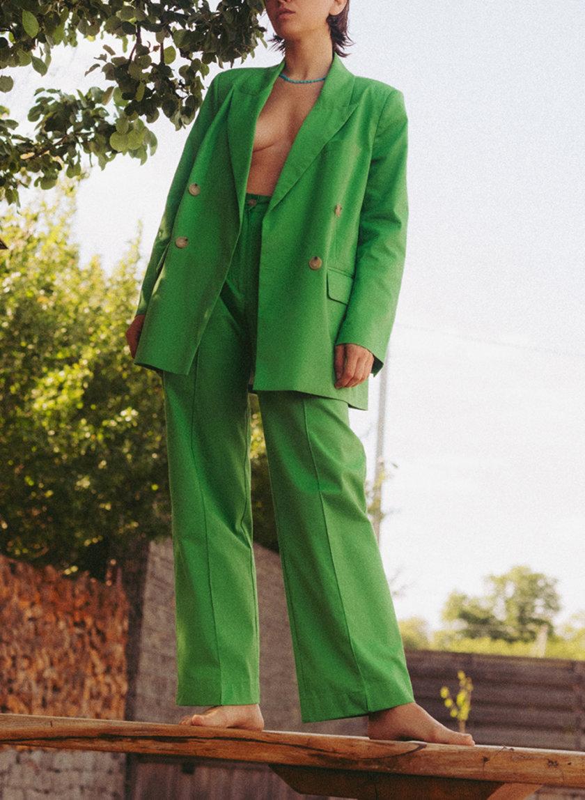 Прямые брюки из хлопка NM_475, фото 1 - в интернет магазине KAPSULA