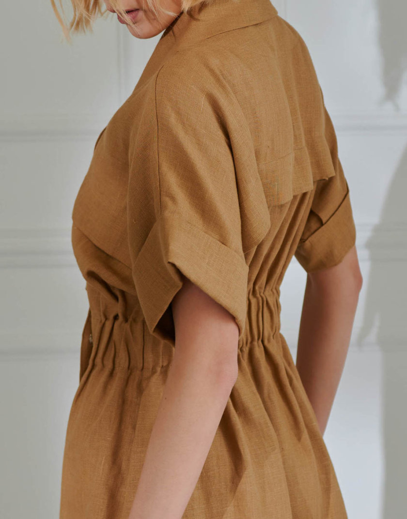 Платье из льна KLNA_LN-10, фото 1 - в интернет магазине KAPSULA