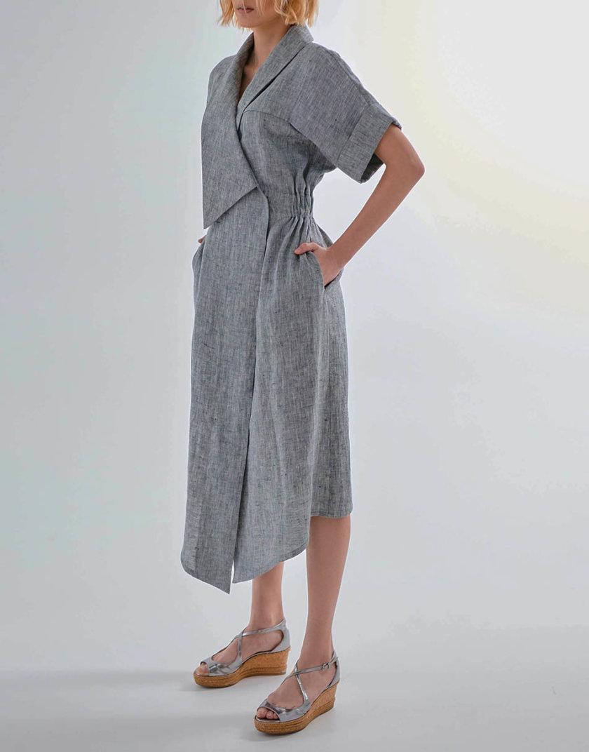 Платье из льна KLNA_LN-11, фото 1 - в интернет магазине KAPSULA